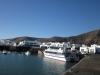 Abfahrt im Hafen von Orzola
